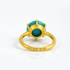 Turquoise Round Prong Set Ring : December Birthstone