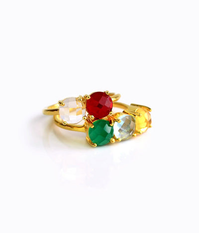 Custom Mother's Ring or Couple's Ring, Two Birthstones
