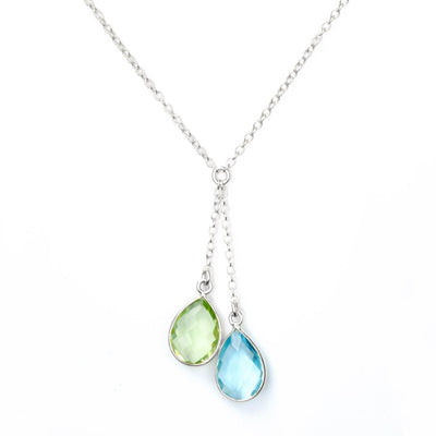 Lariat Style Birthstone Necklace