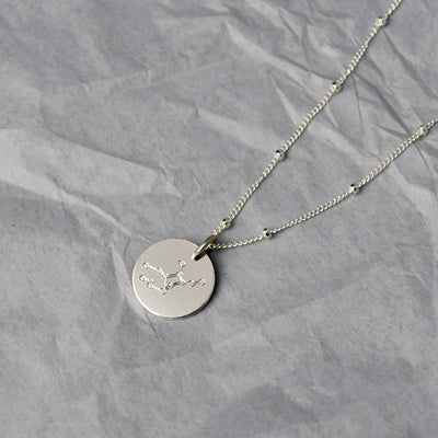 Virgo Constellation Necklace with Monogram Engraving on Back