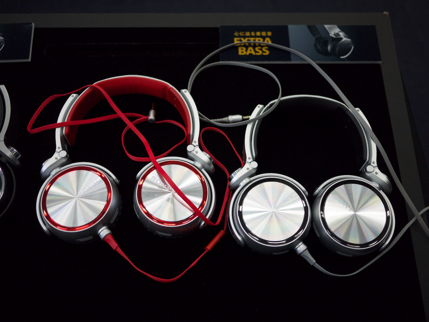 Sony's Extra Bass headphones display