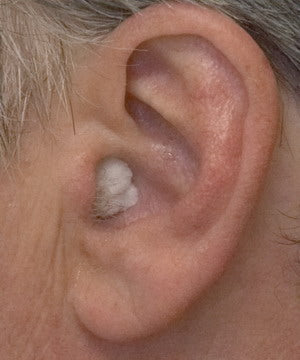 Press securely into ear canal; do not insert too far.