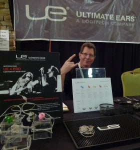 Brad Jensen rocking out in the Ultimate Ears booth.