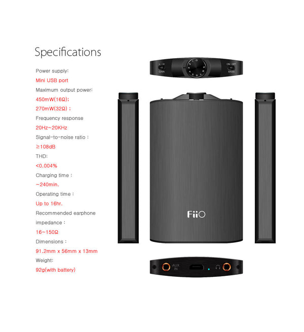 FiiO A3 Portable Headphone Amp - headphone.com  - 3