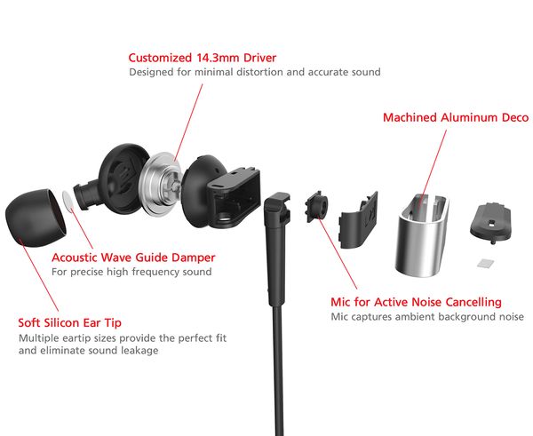 Phiaton PS 202 NC Noise Cancelling Earphone - headphone.com  - 3