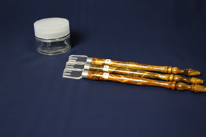 Set of 3 qalams with acrylic nib for Arabic calligraphy: 16 - 18 mm