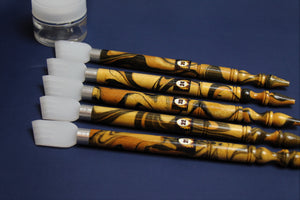 Set of 5 qalam pens with acrylic nib for Arabic calligraphy: 21 - 25 mm