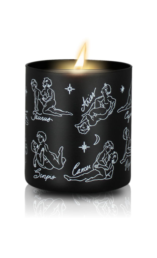 Cosmic Queer Zodiac Massage Gay Candle, Garden Floral Fragrance