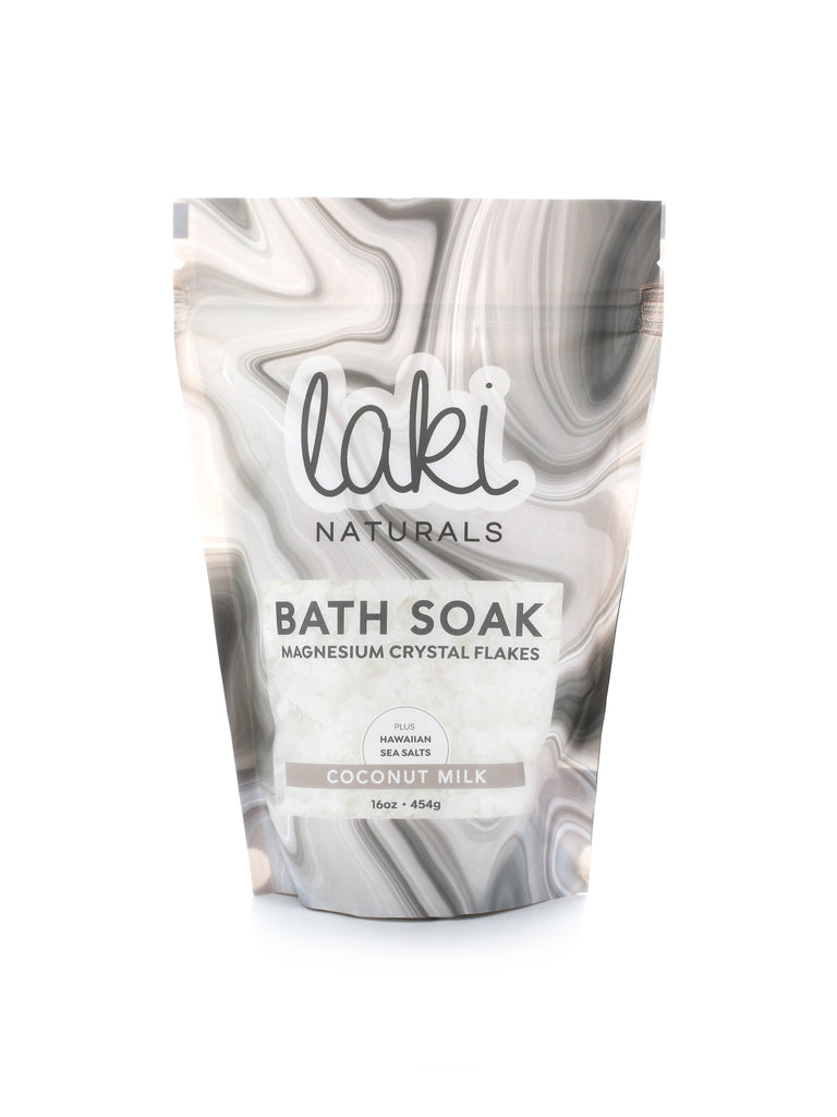 Coconut Milk Magnesium Flakes Bath Soak  - Laki Naturals