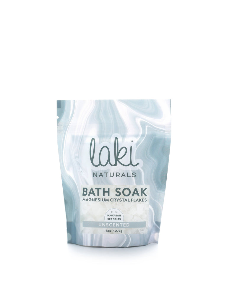 Unscented Magnesium Flakes Bath Soak  - Laki Naturals