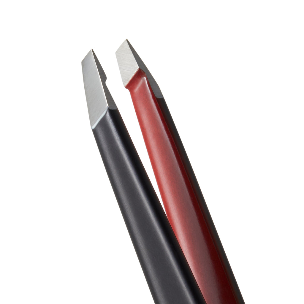 Signature Slanted Tweezer- Black & Red