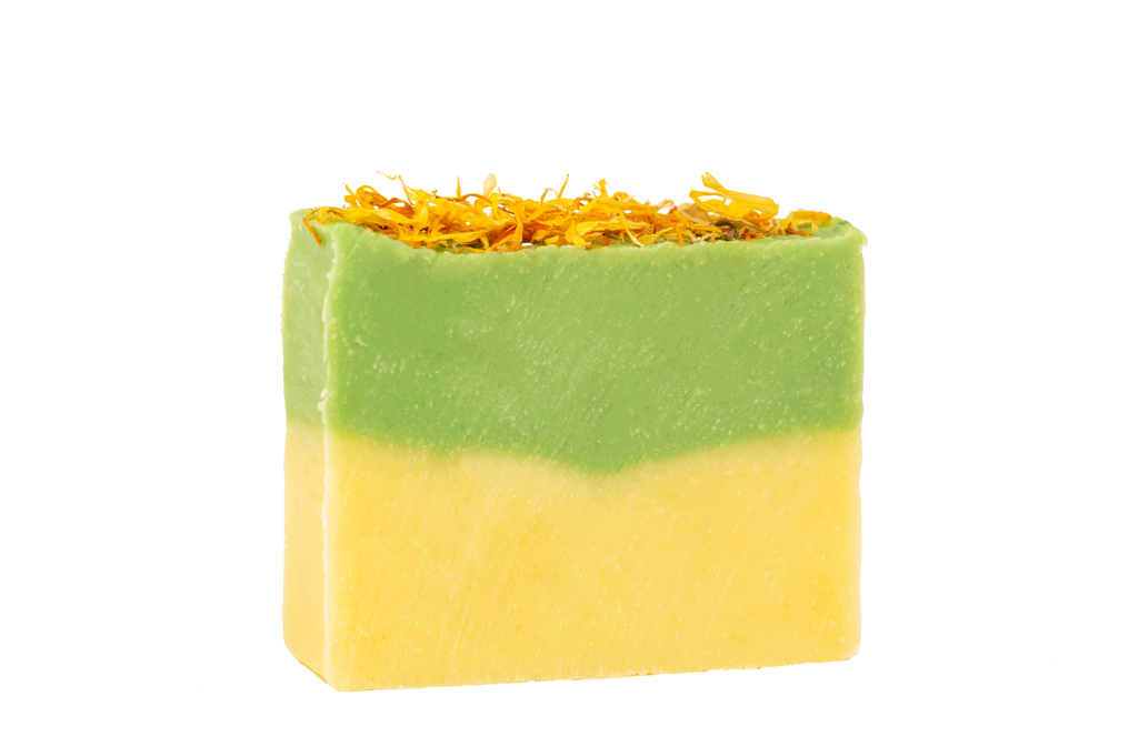 Atlas Cedarwood  Calendula Exfoliating Casablanca  Soap handmade with Organic Moroccan Ingredients