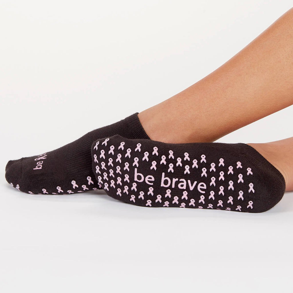 Be Brave Breast Cancer Grip Socks