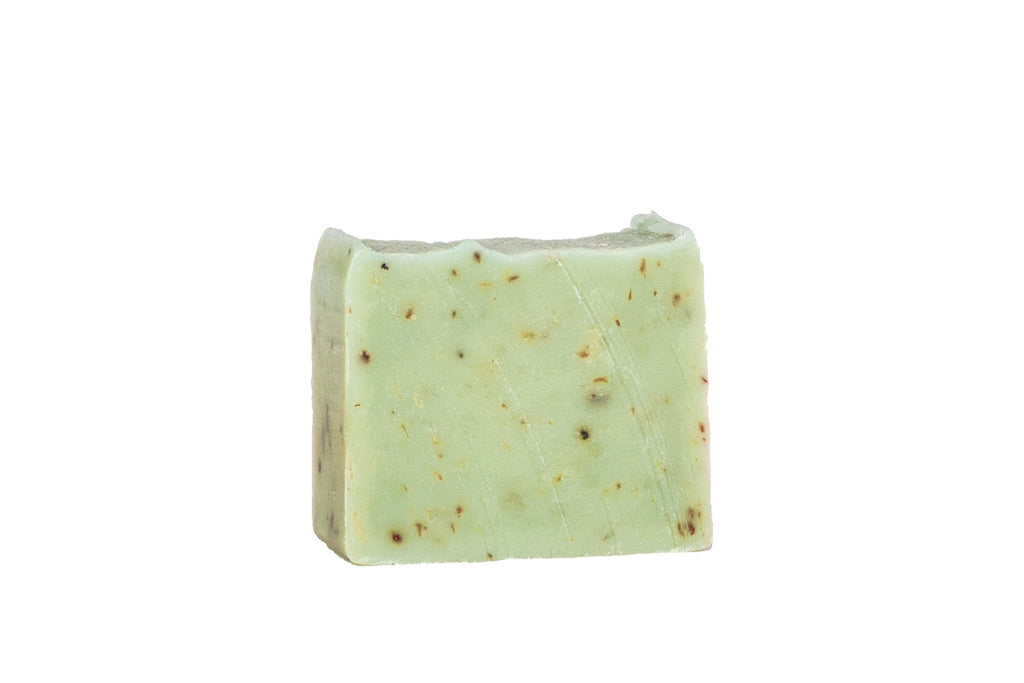 Bergamot Organic Handcrafted Citrus Mini Casablanca Soap with loofah and lavender