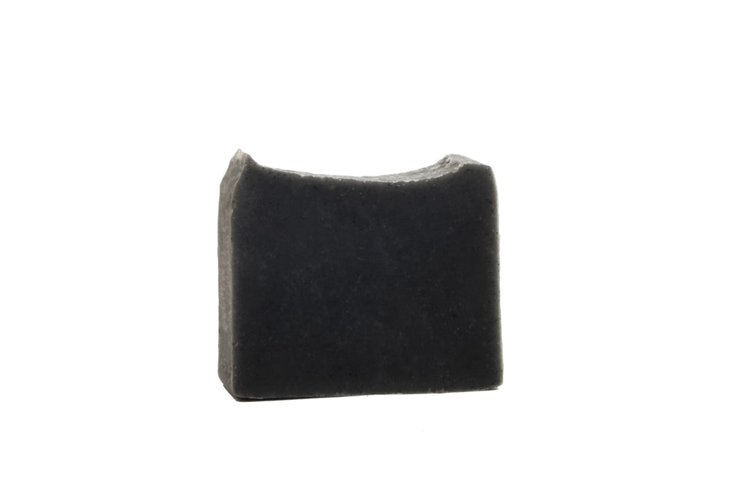 Organic Handcrafted Charcoal  Mini  Casablanca Soap with loofah Lavender and Patchouli