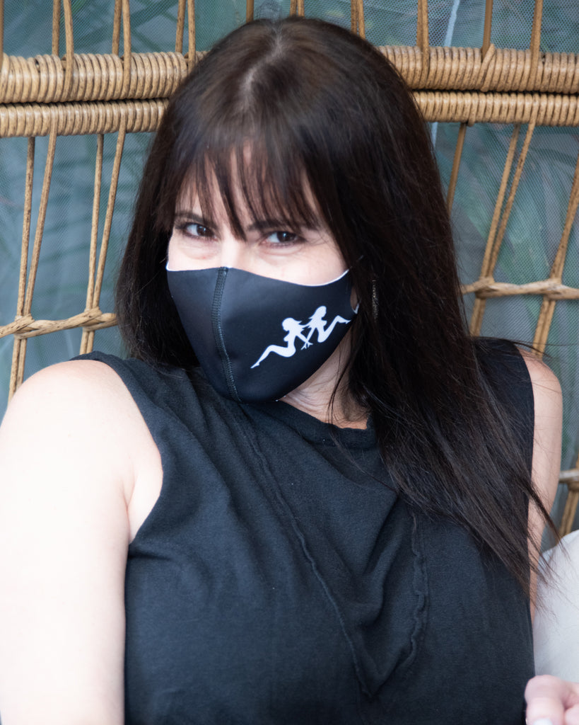 Lisa Kline Back to Back Black Logo Mask