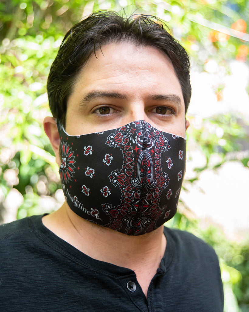 LK Black Paisley Mask