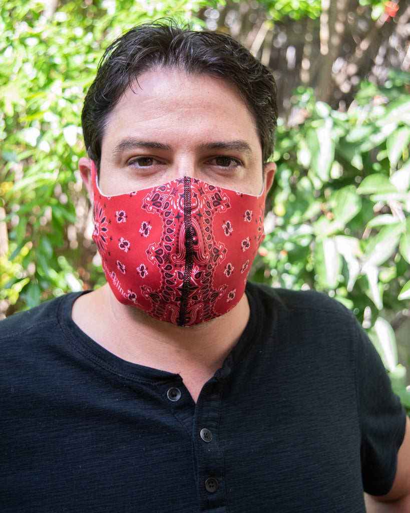 LK Red Paisley Mask