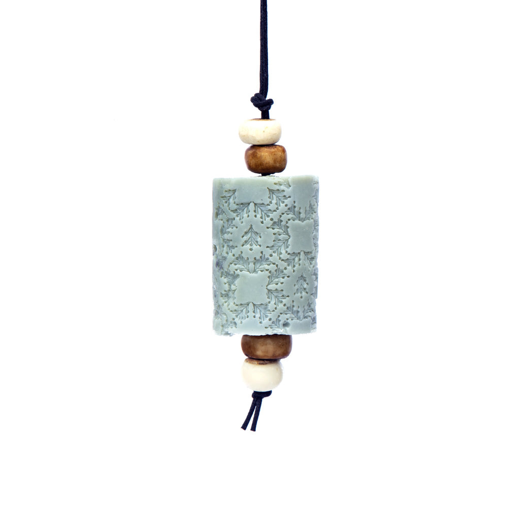 Eucalyptus  Oriental Soap on a Rope. The Marrakech hanging Jewel. Moroccan resin beads