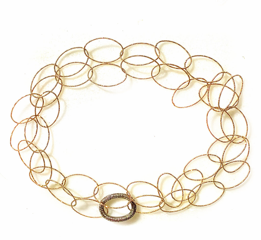 Italian Oval Gold Necklace