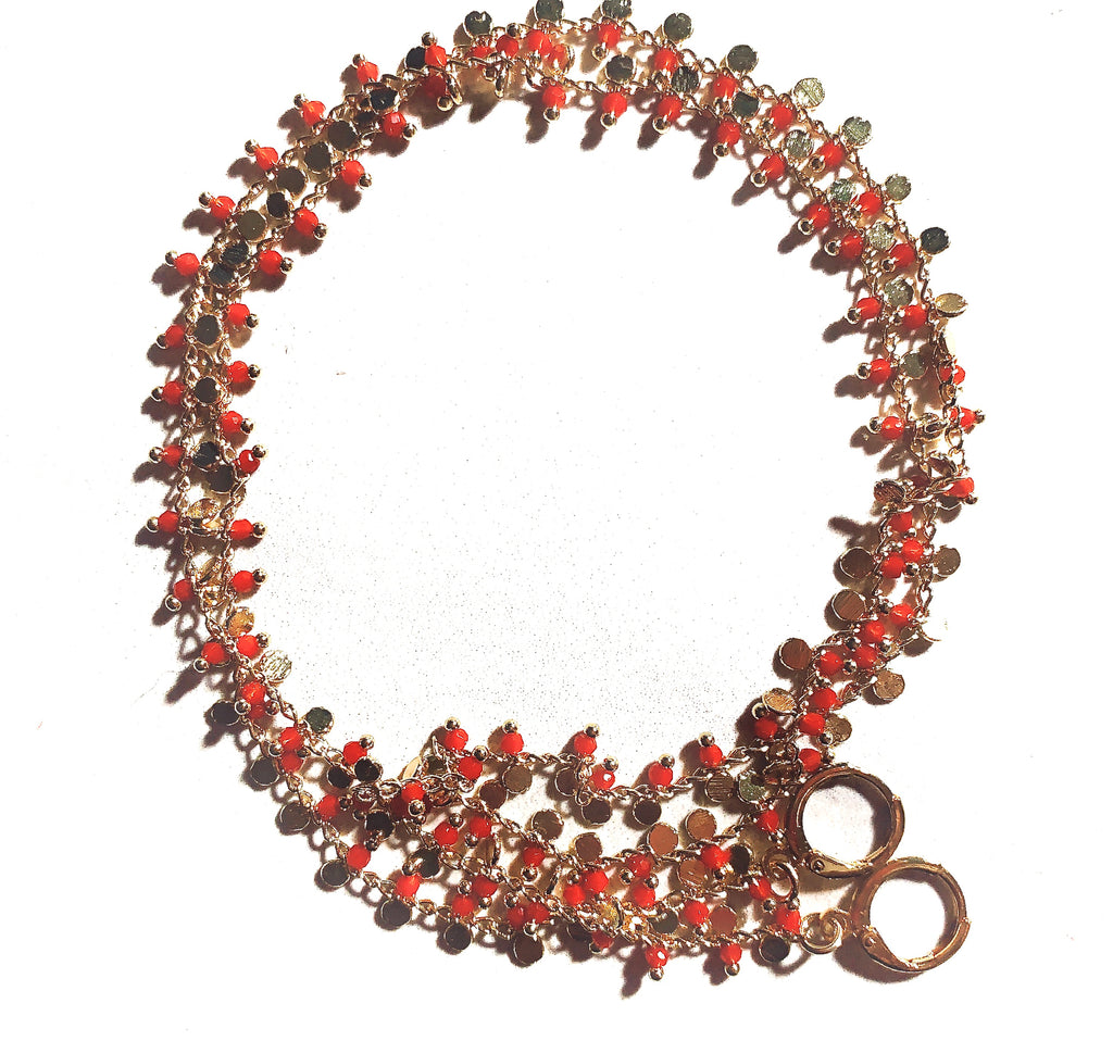 Red Coral Mask Holder Chain