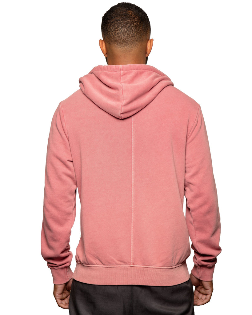 Later Spring Weight Full Zip Hoodie Dusty Red