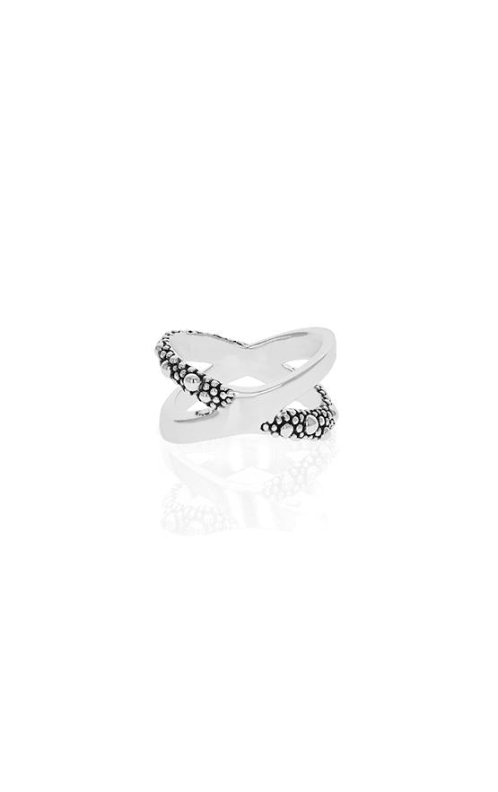 king baby stingray x cross ring for women