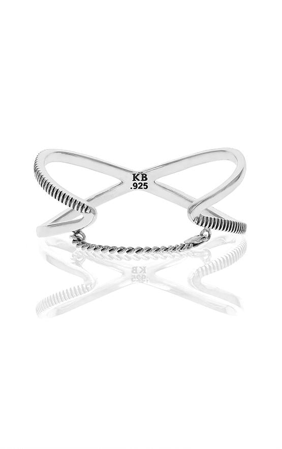 king baby coin edge womens x cross cuff