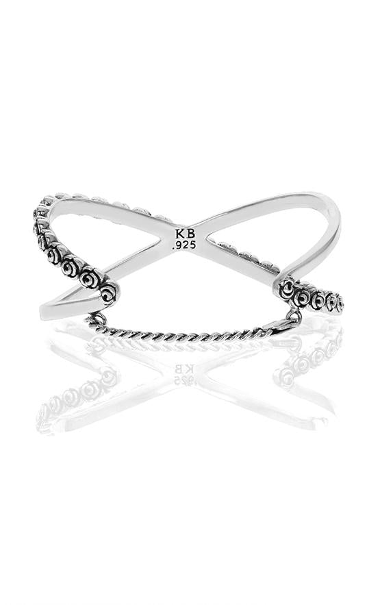 king baby womens rose x cross cuff