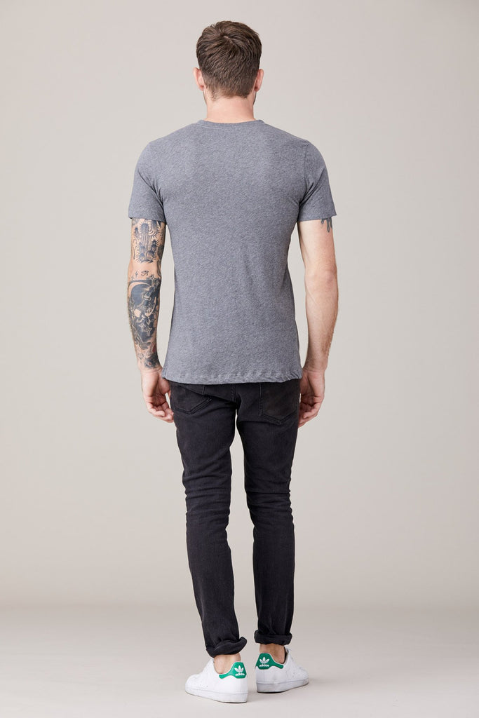 Short Sleeve Crew Neck Tee- Heather Grey