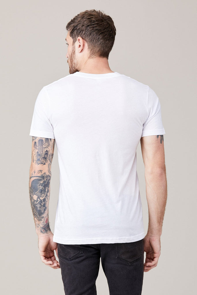 Short Sleeve Crew Neck Tee- White