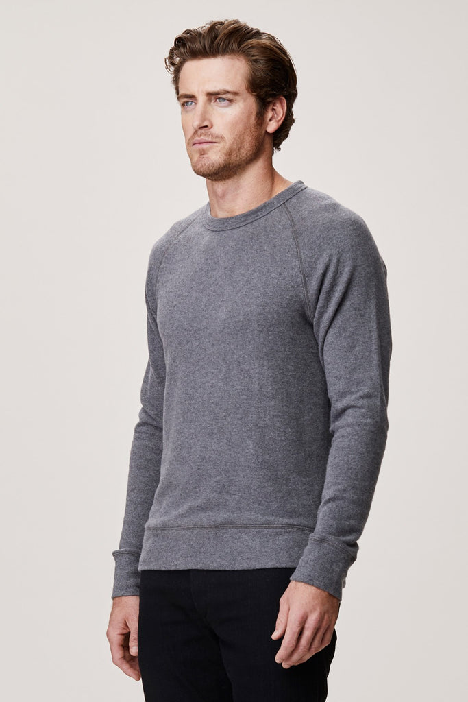 Brushed Raglan Pullover- Black