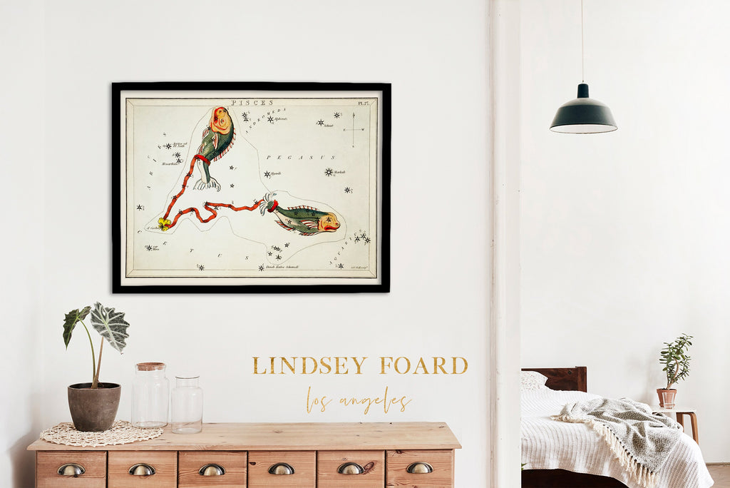 LINDSEY FOARD // Pisces Star Map Print // Antiquarian Art