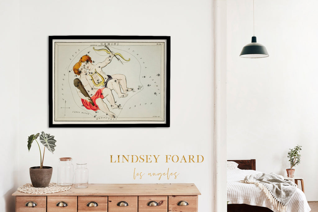 LINDSEY FOARD // Gemini Star Map Print // Antiquarian Art
