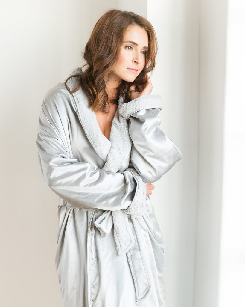 Little Giraffe Luxe Satin Robe