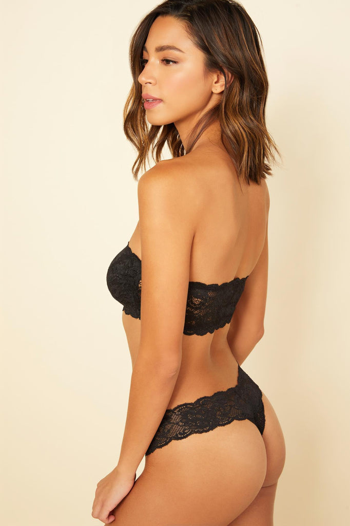 Never Say Never Cutie Low Rise Thong- Black