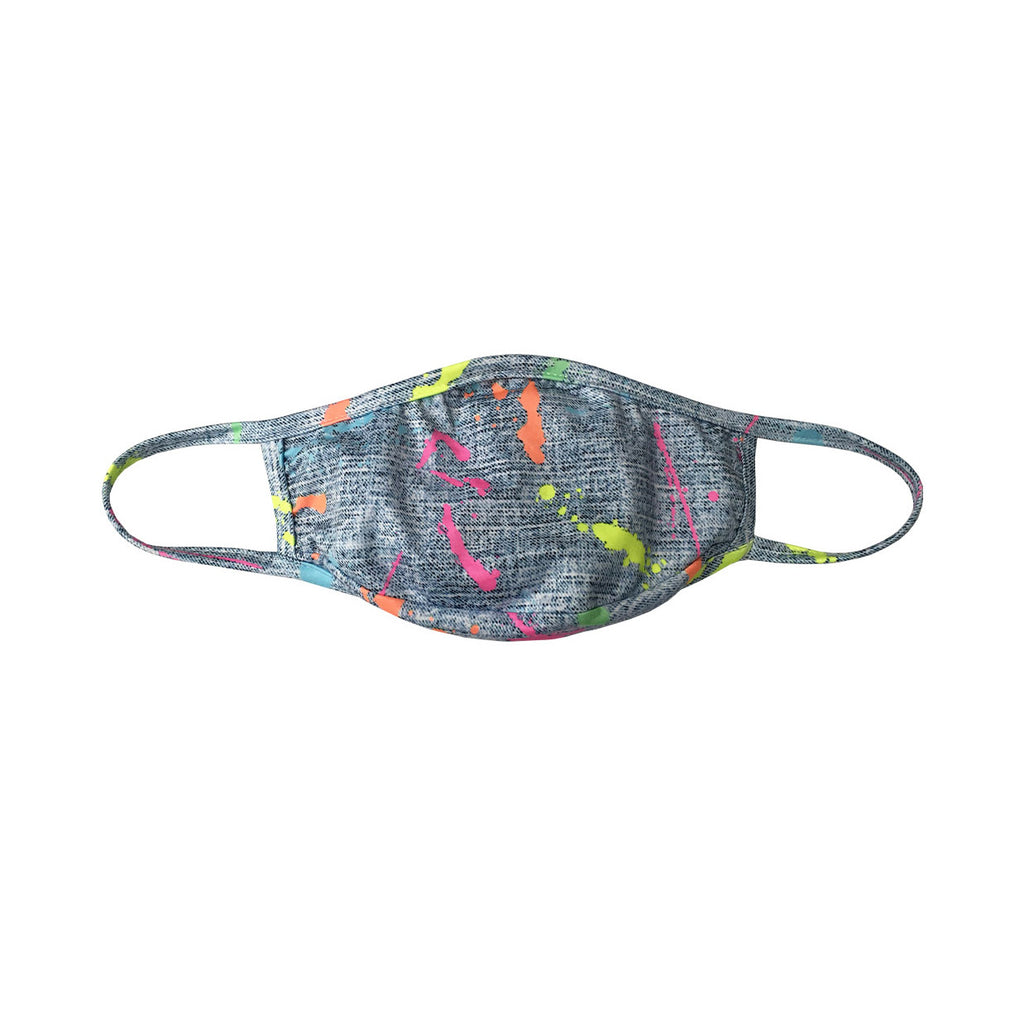 Junior Splatter Face Mask- Blue
