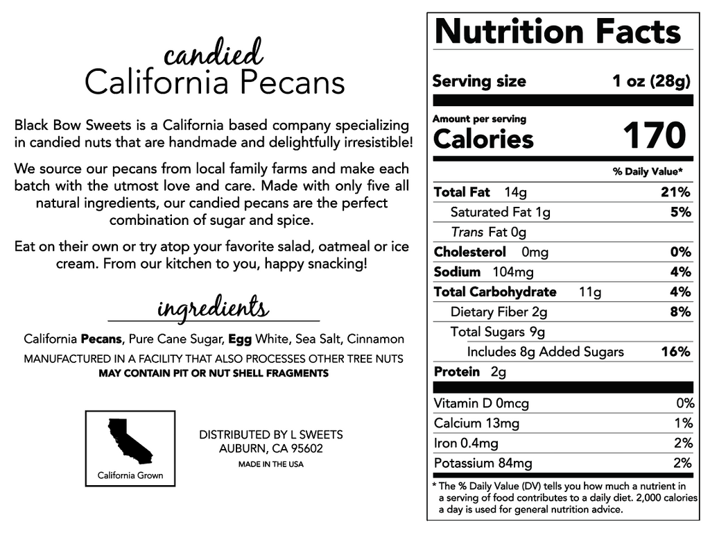 Candied California Pecans- 15oz Gift Box