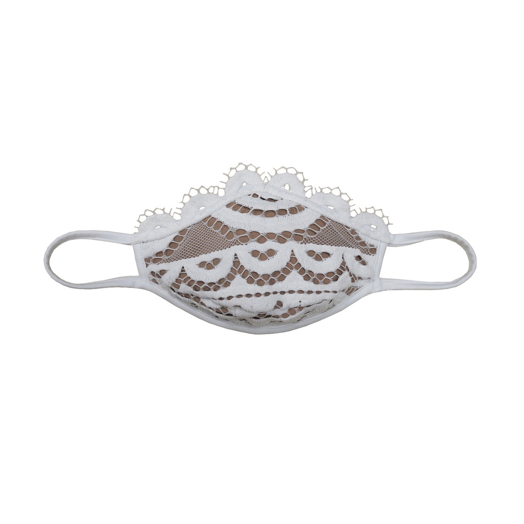 Lace Face Mask- White