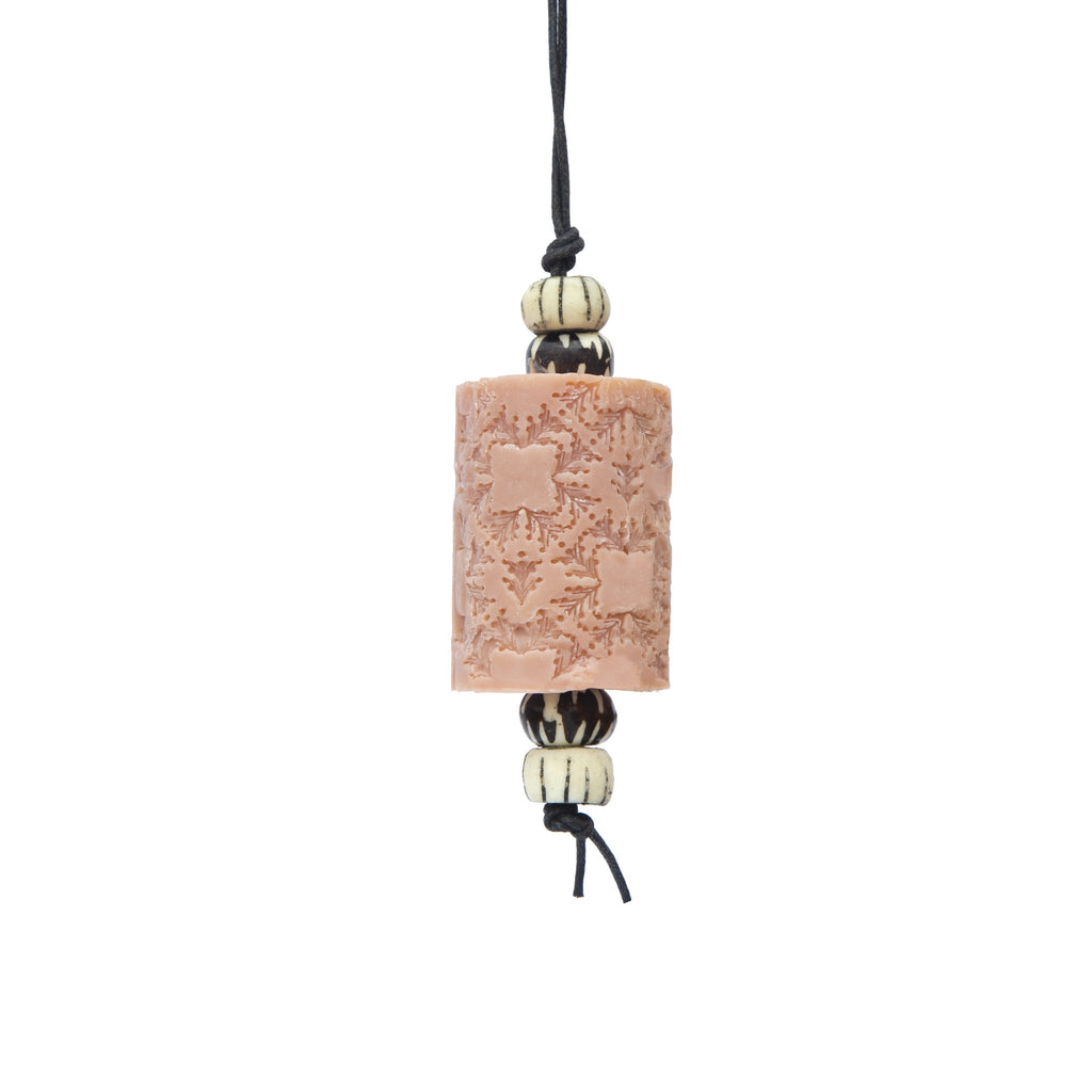 Wild Geranium  Oriental Soap on a Rope. The Marrakech hanging Jewel. Moroccan resin beads