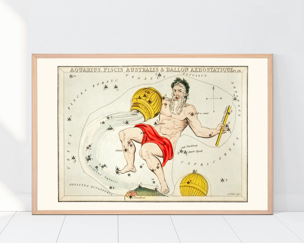 LINDSEY FOARD // Aquarius Star Map Print // Antiquarian Print