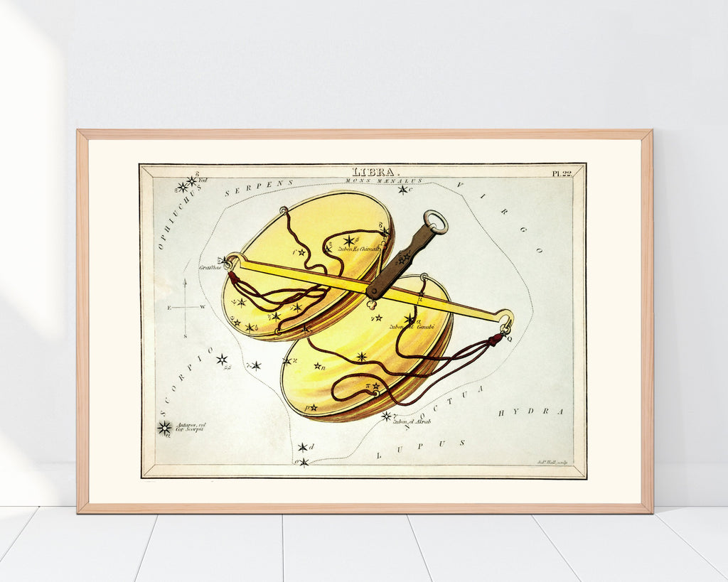LINDSEY FOARD // Libra Star Map Print // Antiquarian Art