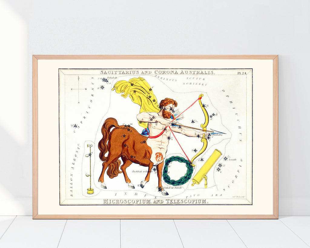 LINDSEY FOARD // Sagittarius Star Map Print // Antiquarian Art