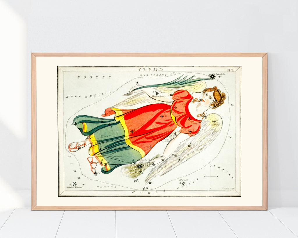 LINDSEY FOARD // Virgo Star Map Print // Antiquarian Art