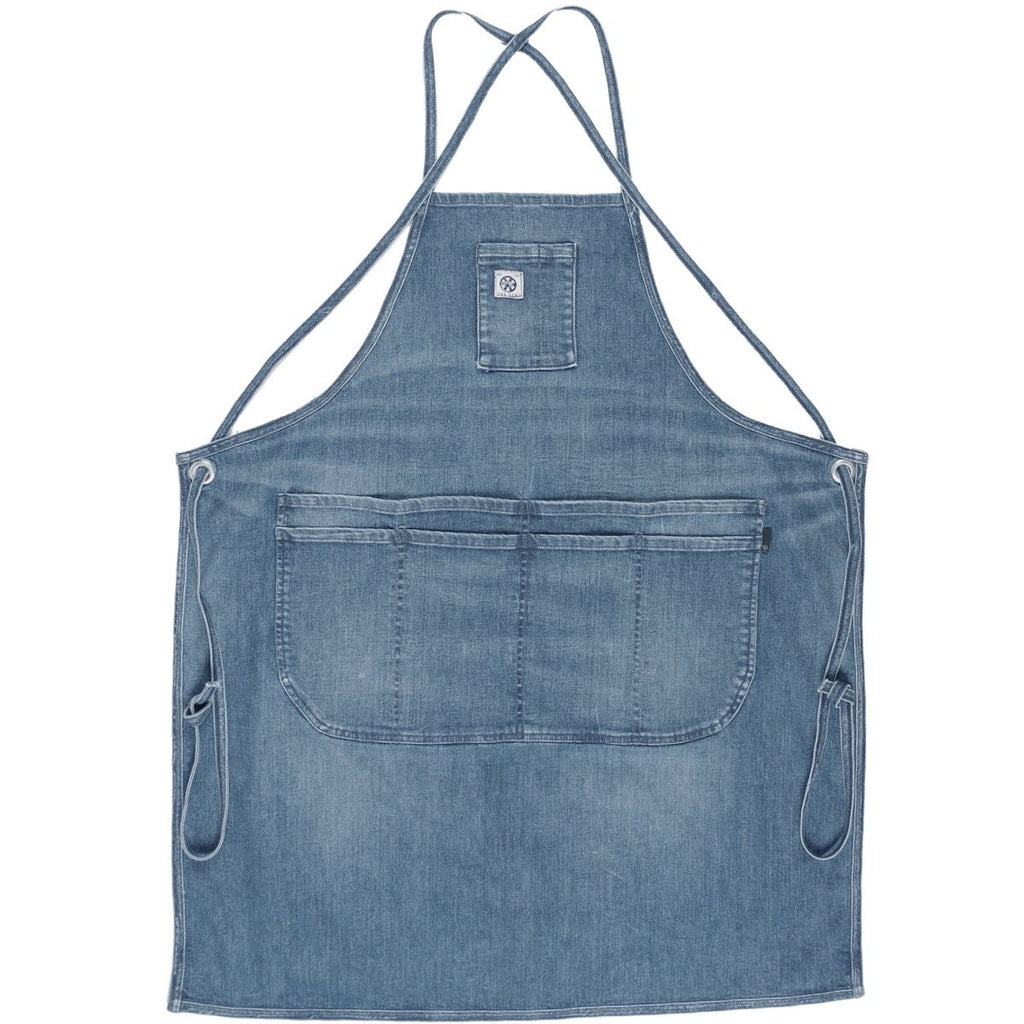 The Classic Apron- Indigo Denim-Light Vintage
