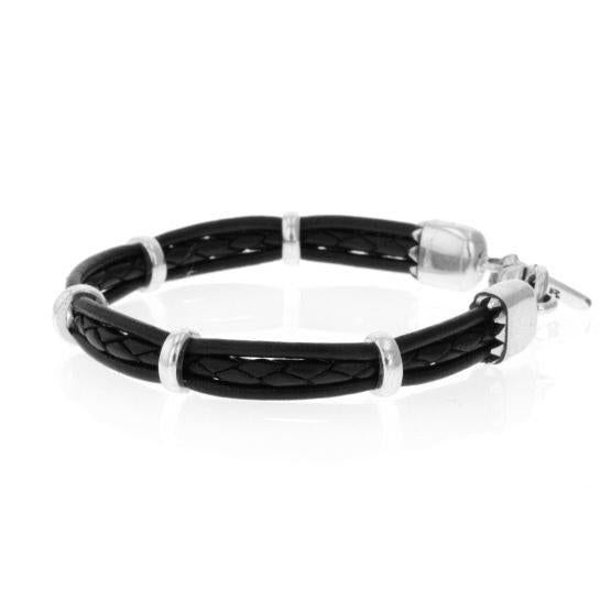 king baby men's leather bracelet