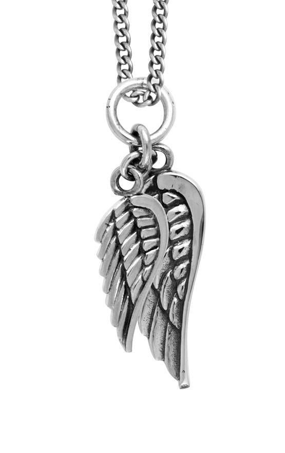 king baby double wing pendant