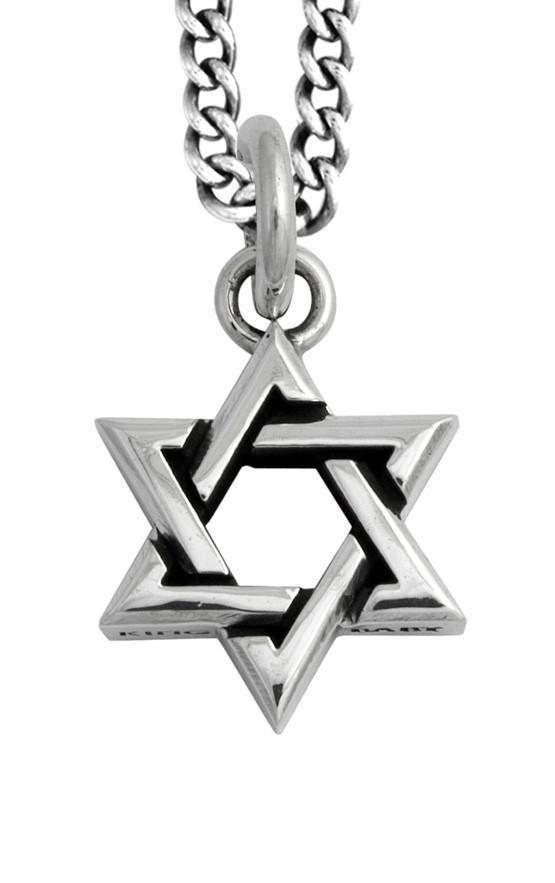 king baby silver star of david pendant
