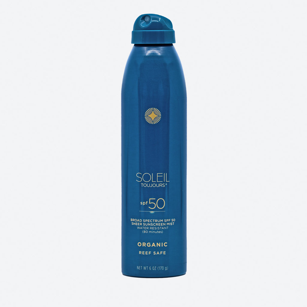Organic Sheer Sunscreen Mist SPF 50
