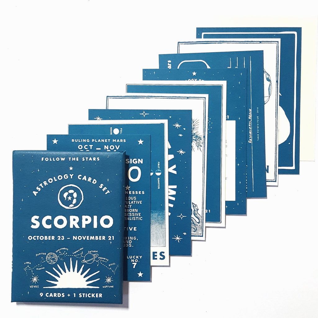 Scorpio (Oct 23 - Nov 21) Astrology Card Pack